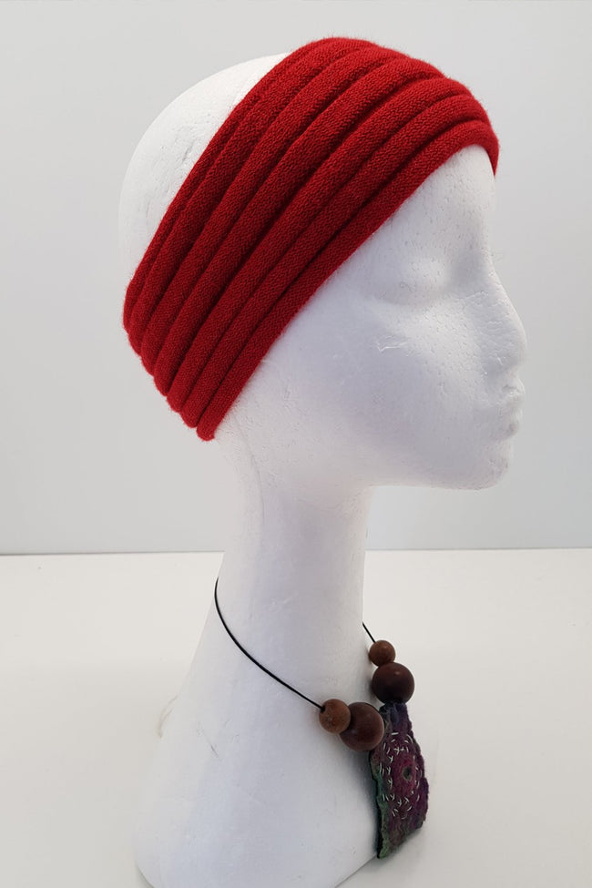 New Zealand made Alpaca Headbands - Chilli
