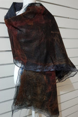 Paj Nuno Felted Alpaca Silk Coloured Scarf - Dark Autumn