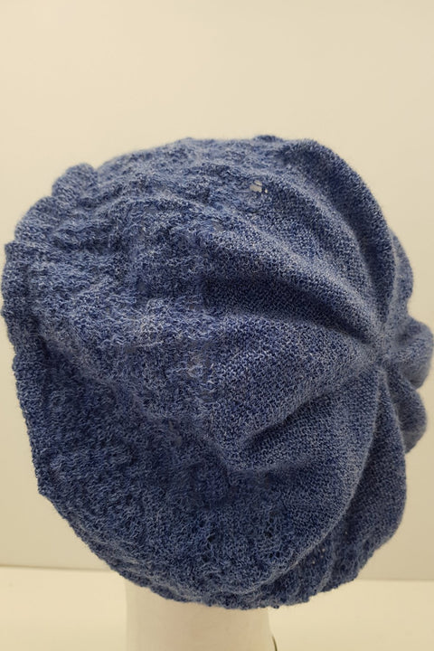 New Zealand made Alpaca Beret - Denim