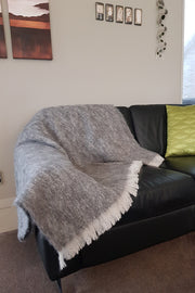 Granite Alpaca Blanket/Throw