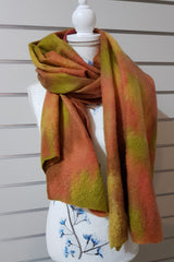 Merino Silk Mesh Wraps - Light Autumn
