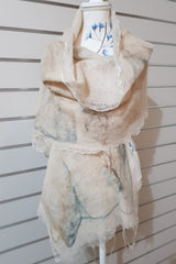Paj Nuno Felted Alpaca Silk Coloured Scarf - Light Tan