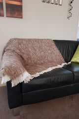 Alpaca Blanket/Throw - Pumice