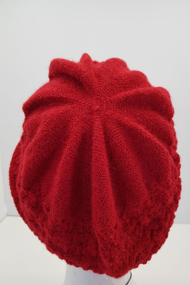 New Zealand made Alpaca Beret - Red