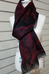 Paj Nuno Felted Alpaca Silk Coloured Scarf - Red