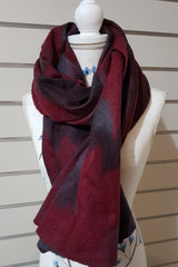 Merino Silk Mesh Wraps - Red Purple