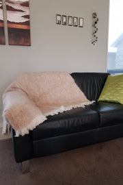 Sand Alpaca Blanket/Throw