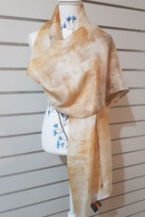 Eco Print Paj Silk Scarves - Soft