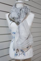 Paj Nuno Felted Alpaca Silk Coloured Scarf - Soft Rock