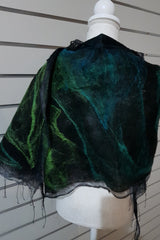 Paj Nuno Felted Alpaca Silk Coloured Scarf - Southern Seas