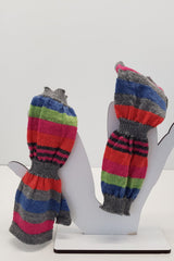 NZ Made Alpaca Handwarmers - Spring Stripe