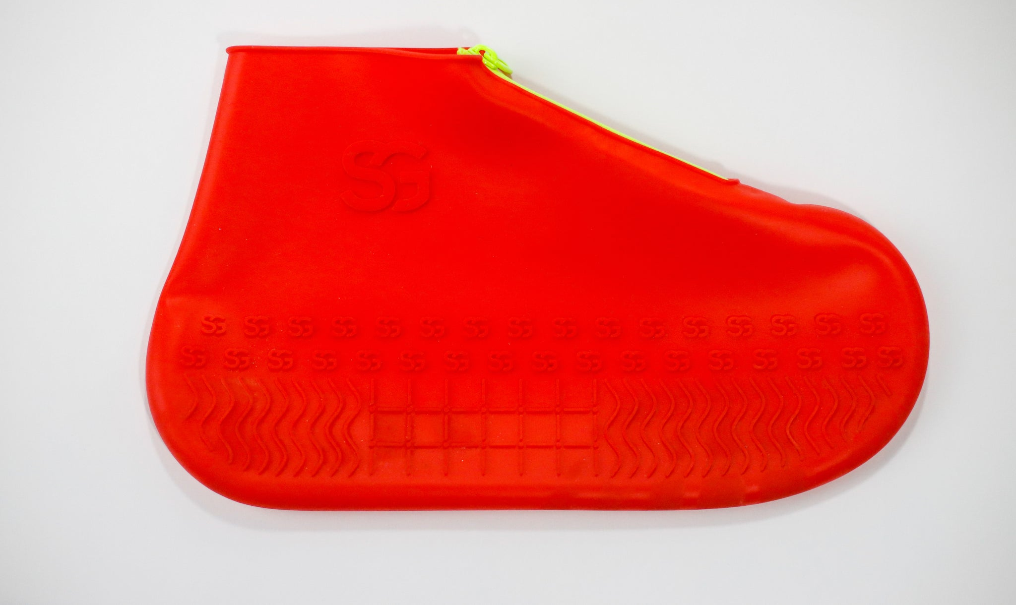 Kids ShoeGuards | Red - Neon Yellow Zipper