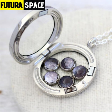 12pcs/lot Moon Phases Necklace - 200000162