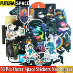 50/100 Pcs SPACE STICKERS - 50 Pcs - 200003295
