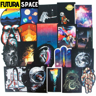 50/100 Pcs SPACE STICKERS - 200003295