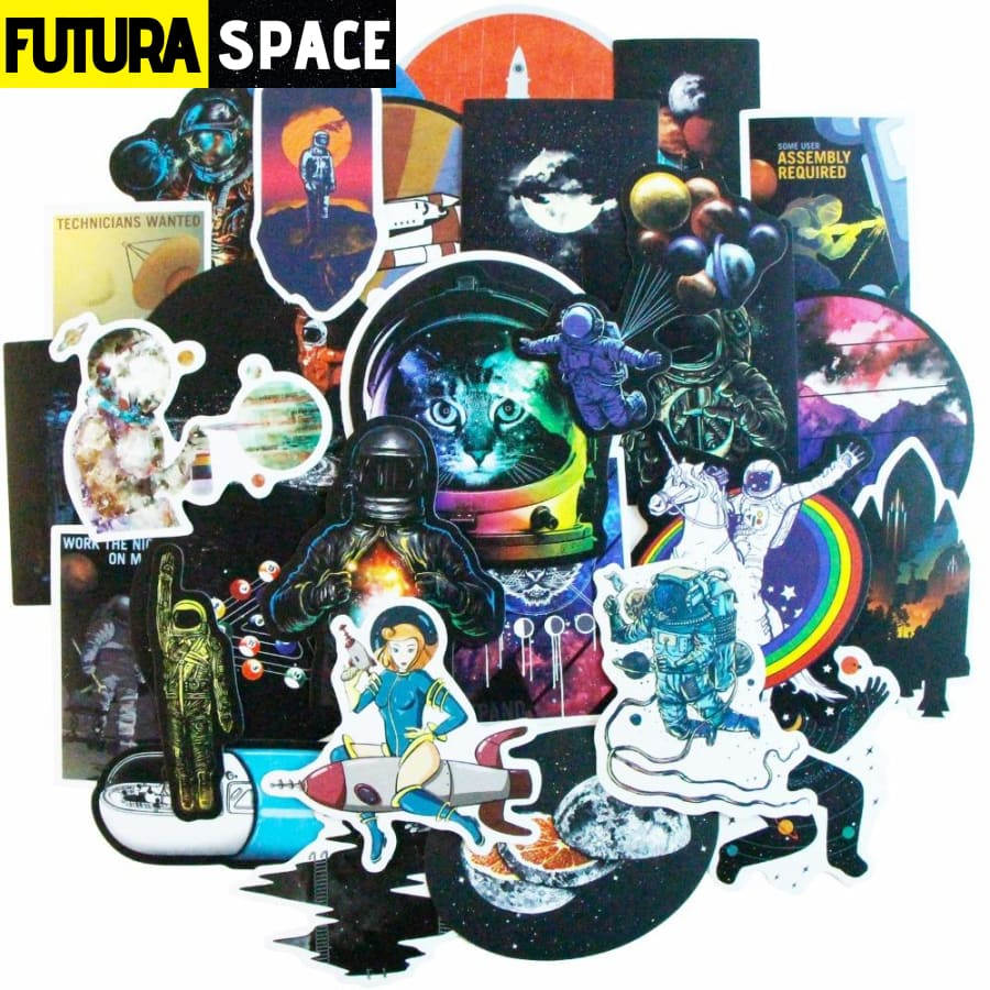 50/100 Pcs SPACE STICKERS