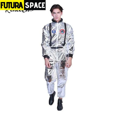 ASTRONAUT COSTUME FOR HALLOWEEN - Silver / S / Other -