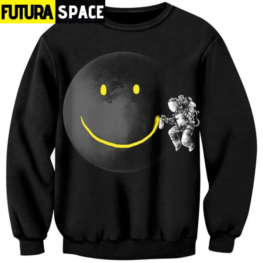 ASTRONAUT HOODIE - SMILEY - As shown / S - 200000344