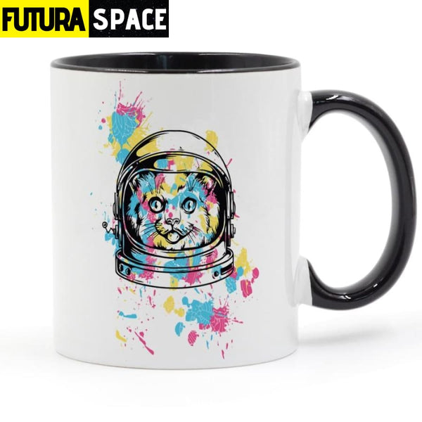 Astronaut Kitty Coffee Mug - black / 301-400ml - 100003290