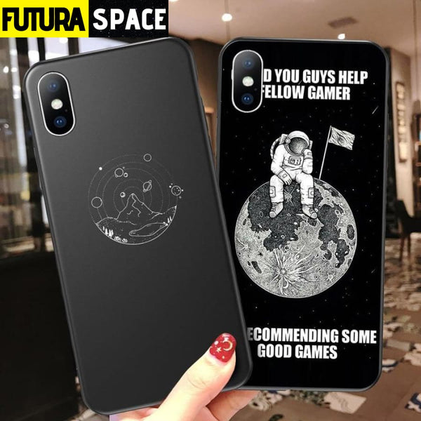Astronaut Silicone Phone Case For iPhone - 380230