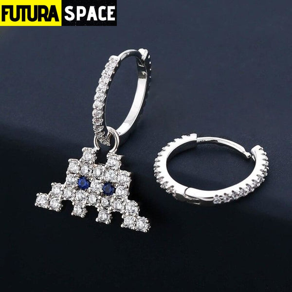 Asymmetric Space Shooter Earrings - 200000168