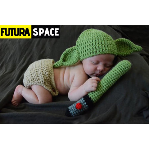 BABY YODA BEANIE FOR NEWBORN - picture color - 32701