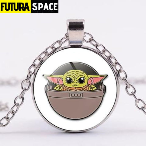 BABY YODA NECKLACE - Style 7 / Silver / China - 200000162