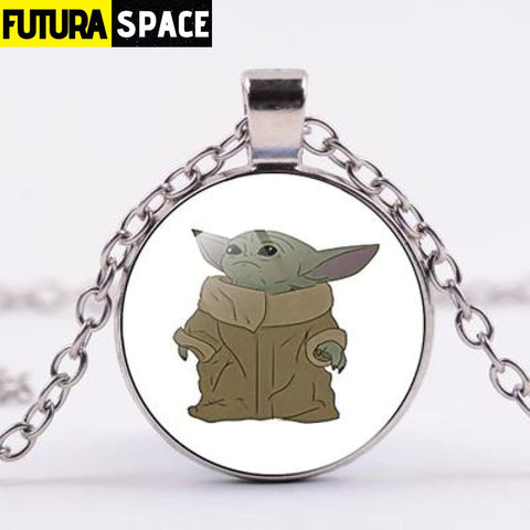 BABY YODA NECKLACE - Style 4 / Silver / China - 200000162