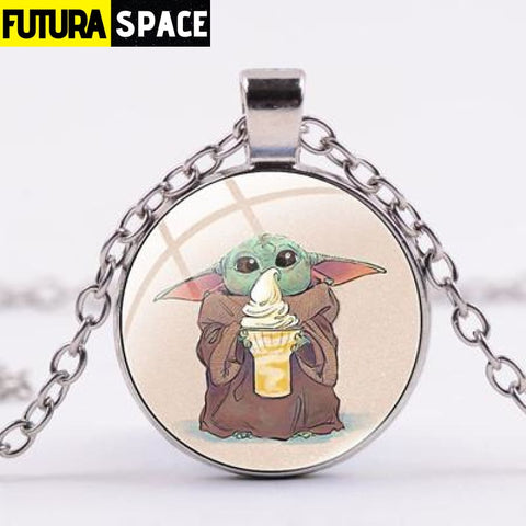 BABY YODA NECKLACE - Style 3 / Silver / China - 200000162