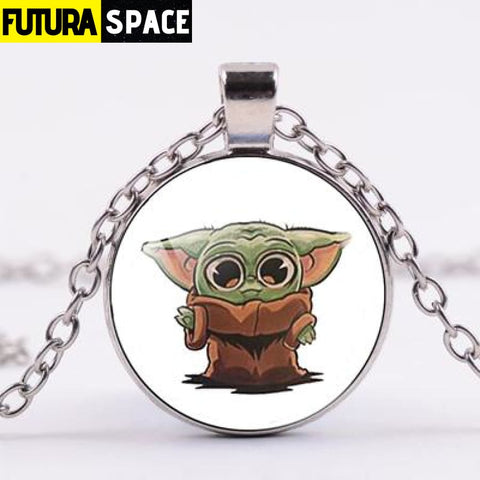 BABY YODA NECKLACE - Style 9 / Silver / China - 200000162