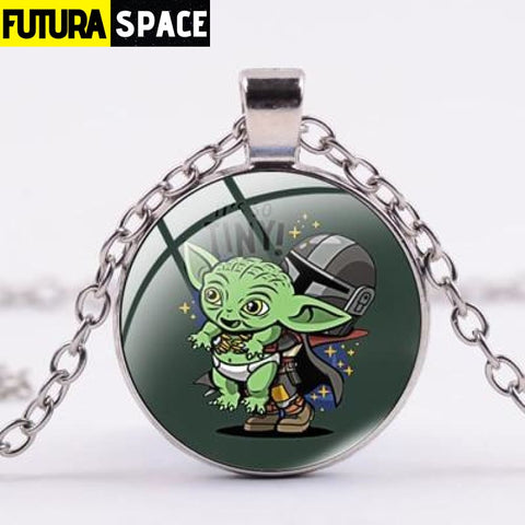 BABY YODA NECKLACE - Style 6 / Silver / China - 200000162