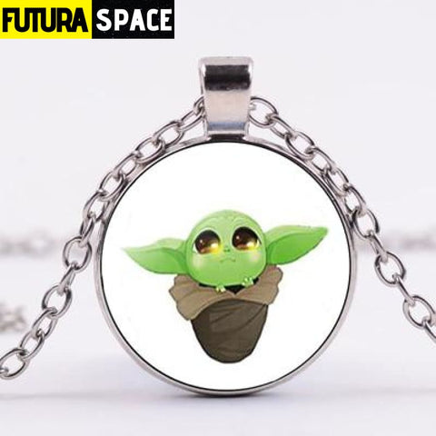 BABY YODA NECKLACE - Style 18 / Silver / China - 200000162