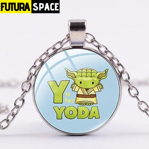 BABY YODA NECKLACE - Style 2 / Silver / China - 200000162