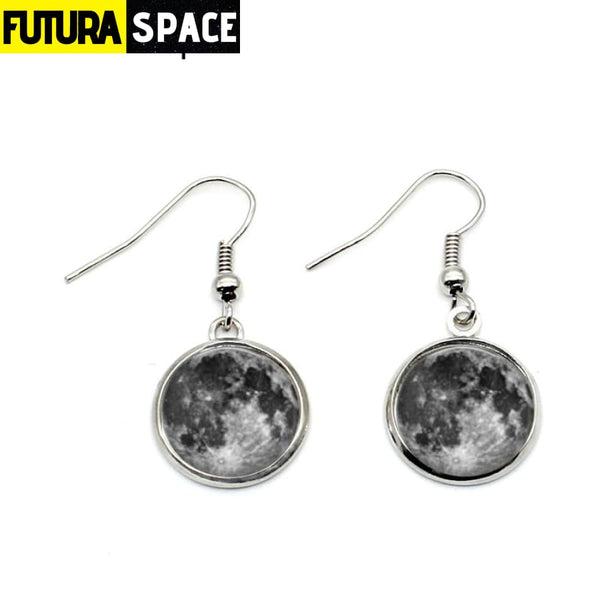 BLACK FULL MOON EARRINGS - 200000168