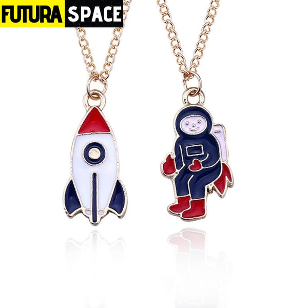 CARTOON ASTRONAUT NECKLACE - 200000162