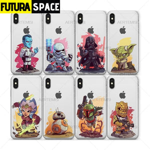 Cartoon Space Phone Case for iPhone - 380230
