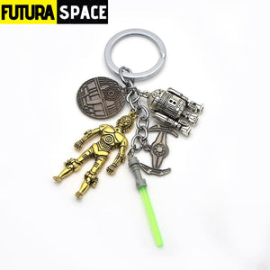 Cool Spaceship Sign Keychain - 200000174
