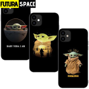 Cute Baby Yoda Phone Case For iPhone - 380230