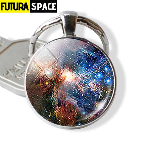 Galaxy Planet Keychain - as show 6 / Clear - 200000174