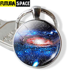 Galaxy Planet Keychain