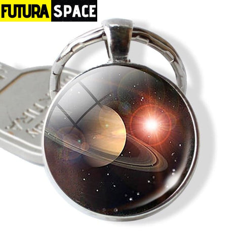 Galaxy Planet Keychain - as show 4 / Clear - 200000174