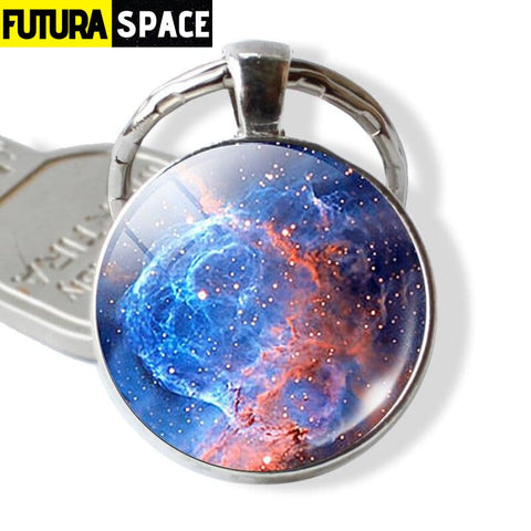 Galaxy Planet Keychain - as show 3 / Clear - 200000174