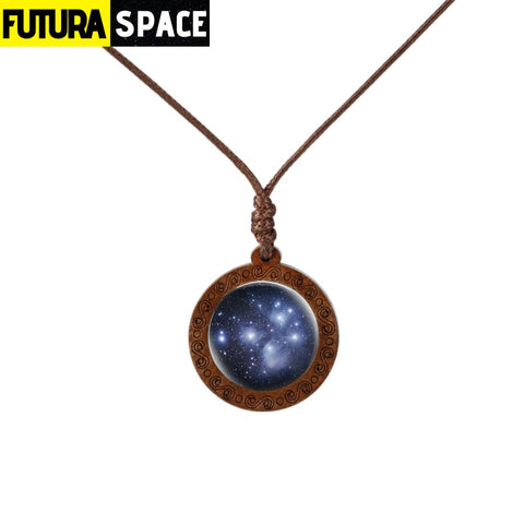 GALAXY WOOD NECKLACE - 1 - 200000162