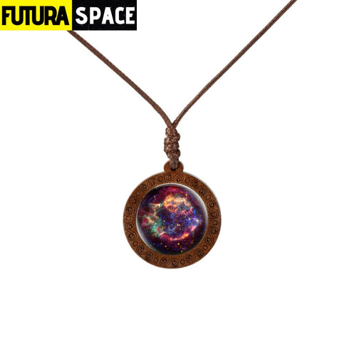 GALAXY WOOD NECKLACE - 2 - 200000162