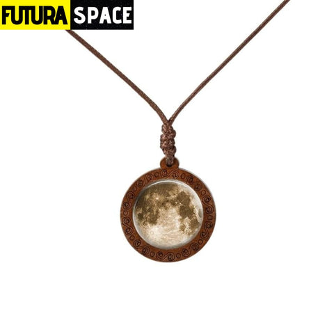 GALAXY WOOD NECKLACE - 19 - 200000162