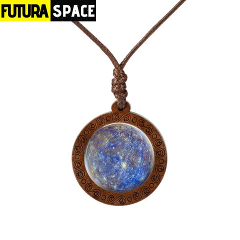 GALAXY WOOD NECKLACE - 18 - 200000162
