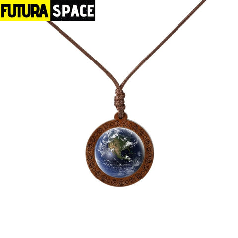 GALAXY WOOD NECKLACE - 8 - 200000162