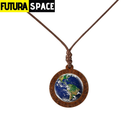 GALAXY WOOD NECKLACE - 12 - 200000162