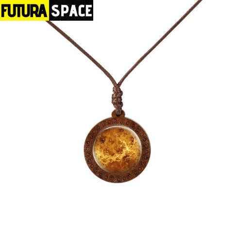 GALAXY WOOD NECKLACE - 14 - 200000162