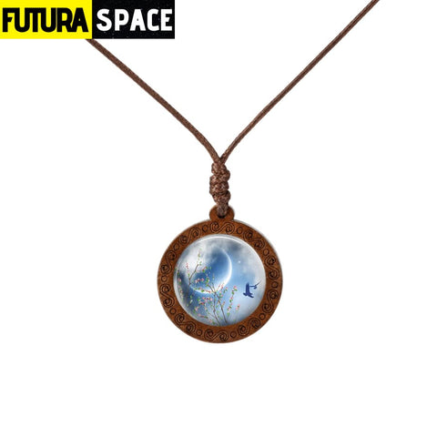 GALAXY WOOD NECKLACE - 10 - 200000162